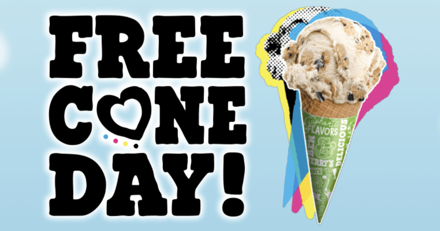 ben and jerrys free scoop day