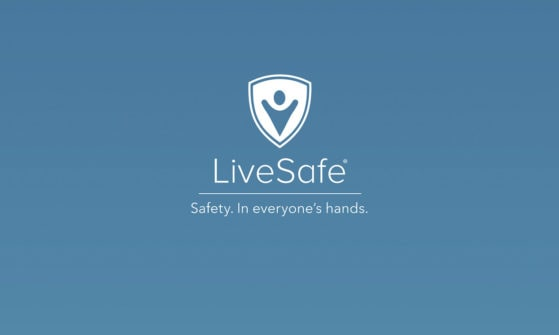 the livesafe logo in a muted blue